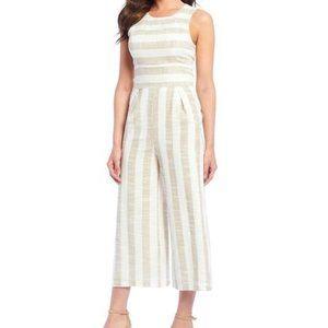 Stripe Crop Culotte Jumpsuit